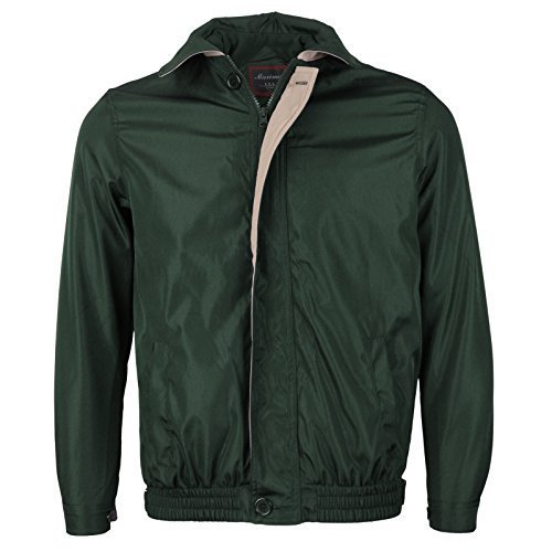 Men's Microfiber Golf Sport Water Resistant Zip Up Windbreaker Jacket Benny (S,