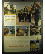 1950 Canadian Club Whisky Ad - Willow trees in Holland Sprout Shoes - $14.99