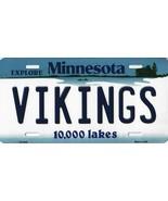 Vikings Minnesota State Background Metal License Plate Tag (Vikings) - $11.35