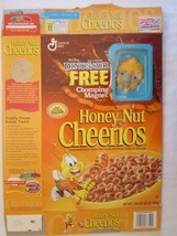 Cereal Box 2000 Honey Nut Cheerios DINOSAUR Chomping Magnet PLIO 20 oz - $28.80