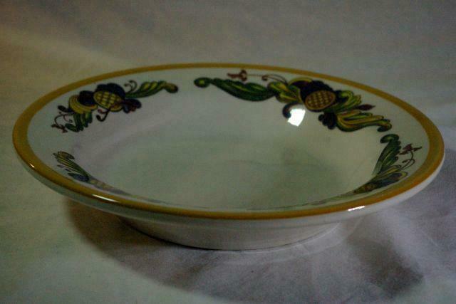"""Homer Laughlin Multi Color Leaf Scrolls Soup Bowl 9"""" image 2"""