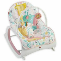 Fisher Price Infant to Toddler Rocker - Pink Floral Tiny Tea Time  - $32.71