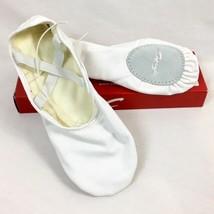 Capezio 2021 Romeo Leinwand Weiß Ballett Schuhe, Herren Größe 8W - $14.94
