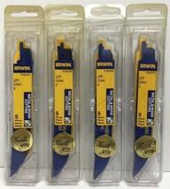 "(New) IRWIN  6"" 10 TPI Reciprocating Saw Blades  5 PC 372610P5 Lot 4 - $30.68"