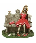 Gothic Day Of The Dead Skeleton Lady Waiting For The Perfect Man Statue ... - $27.99