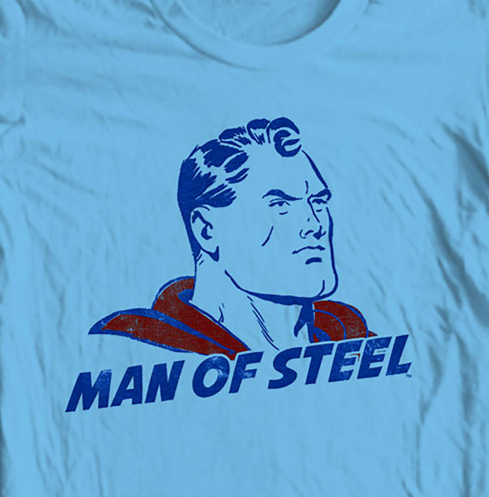 Vintage Superman Man of Steel T-shirt Classic Golden Age DC comics tee SM1922