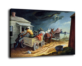"Cartoon Art Home Decor Oil Painting Print On Canvas ""Move House Before S... - $13.06+"