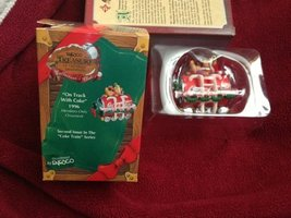 Enesco Treasury Coca Cola on the Track with Coke 1996 Members Only Ornament - $18.81