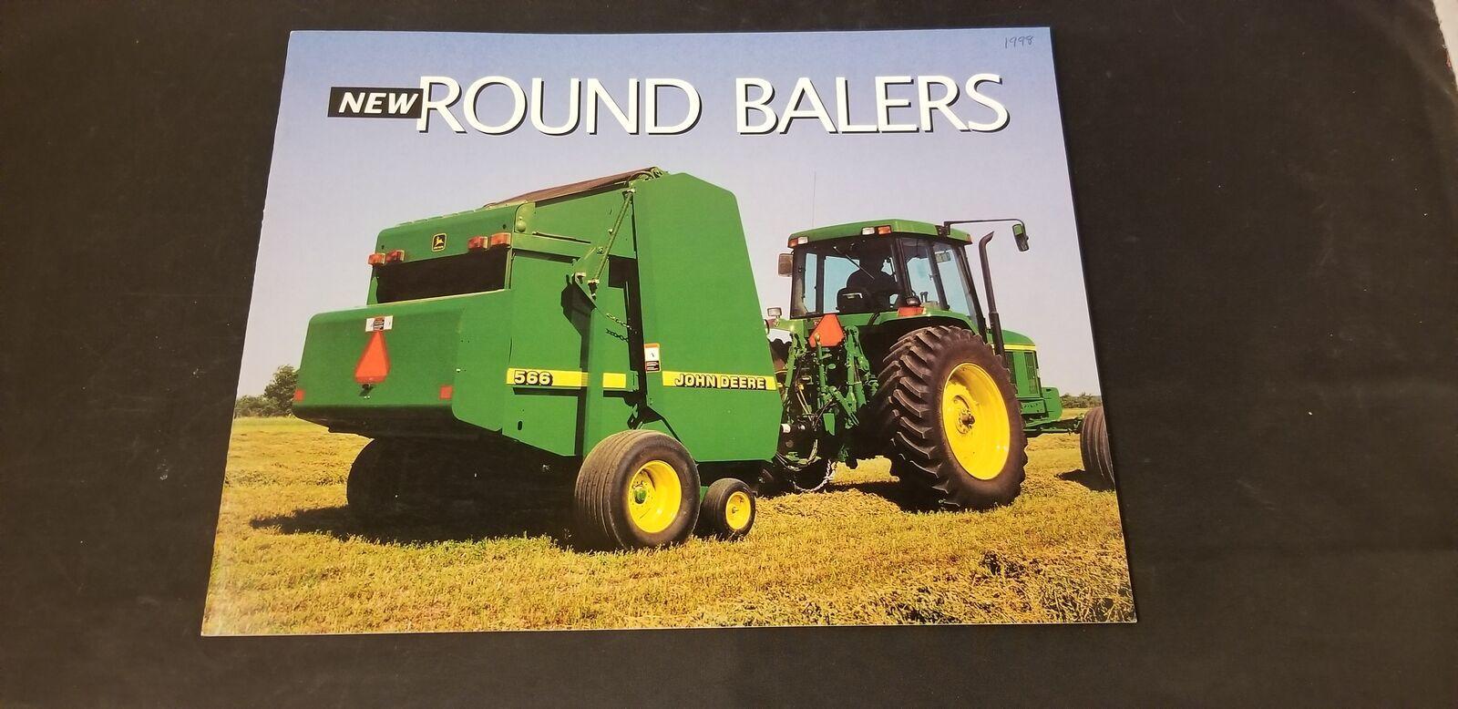1997 John Deere Round Balers #446-546-456-556-465-566 Sales Brochure W/ Specs - $9.62