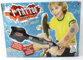 I-TATTOO Electronic Tattoo Pen Toy 2006 Spin Master with Tattoo Stencils - $14.95