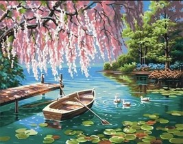 USA - DIY Paint by Number Kit Acrylic Painting Home Decor - The Peaceful... - $18.80