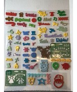Lot Clear Mount foam Christmas stamps. 60+ - $9.90