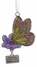 Gnz Inspirational Butterfly Wishes Zinc Ornament -Peace Within - $8.86