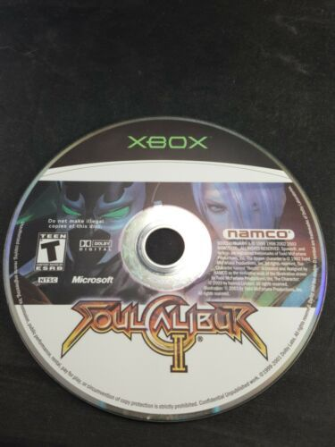 Soul Calibur II 2 Microsoft Xbox Tested DISC ONLY