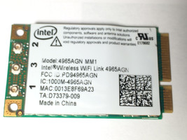 Intel Wireless WiFi Link 4965AGN 300Mbps 441086-001 Mini PCI-E Card For HP - $10.90