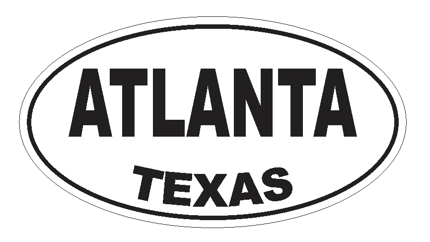 Primary image for Atlanta Texas Oval Bumper Sticker or Helmet Sticker D3123 Euro Oval
