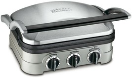 Cuisinart Countertop Grill Griddler Nonstick 4 Cooking Options Stainless Steel - $62.99