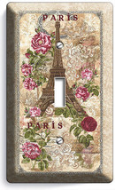 Paris Eiffel Tower Roses Vitage Post Card 1 Gang Light Switch Wall Plates Decor - $8.09