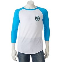 Men's Vans Graphic Raglan T-Shirt WHITE & TURQUOISE - Size XL/Large/Medi... - $24.99