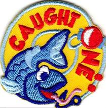 Cub Girl Boy Caught One Fishing Embroidered Iron-On Fun Patch Crests Bad... - $4.90