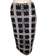 Versace Logo Monogram Logomania Stretchy Dress 40 Tube Skirt Size fits Most - $980.00