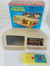 Vintage Fisher Price Toys Movie Viewer Theater 1977 Box Micky Mouse Dona... - $38.69