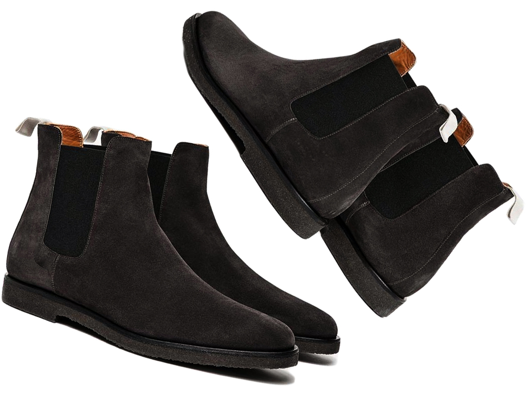 e723a91fcc86 New handmade men black suede boot men black matching crepe sole boot formal