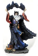 11 Inch Wizard w/ Crows Magician Fantasy Decoration Sculpture Magic Merlin - $65.00