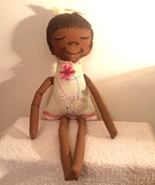 Doll:  Rosie.  Little petite, cloth doll, rag doll in white with a pink ... - $9.99