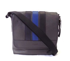 NEW MEN'S COACH BOND SMALL MESSENGER SHOULDER PEBBLE LEATHER BAG - $129.00