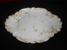 Antique Haviland Limoges Large Serving Platter Floral Gold Gilt Fine Dining  image 1