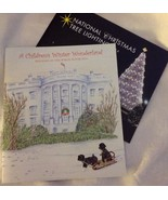PRES OBAMA 2014 CHRISTMAS HOLIDAY TOUR WHITE HOUSE BOOK CARD  w TREE BOO... - $14.50