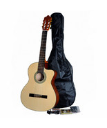 ADM® Full Size Cutaway Classical- Electric Nylon Strings Guitar Package ... - $326.48