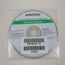 emachines microsoft windows vista home basic 32 bit operating system disc - $9.89
