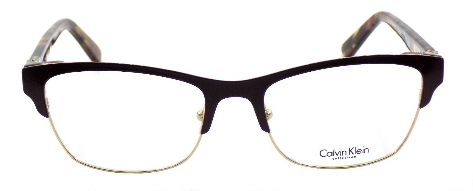 Calvin Klein CK8021 603 Women's Eyeglasses Frames Bordeaux 53-18-135 + CASE