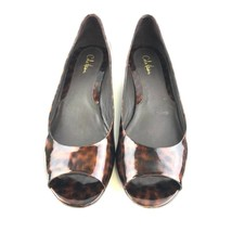 Cole Haan Womens Shoes Wedge Patent Leather 9B Brown - $33.22