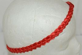 Pan Handle Babies Braid Bow Band Size Teen Item Number 1301B Red image 3