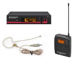 Sennheiser EW172-G3 Wireless System w/OSP HS-09Tan Earset Headset Pro Mi... - $619.99