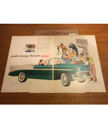 """Original Vintage Two Page Ad 1956 Chevrolet Bel Air Convertible 10""""x13"""" - $6.60"""