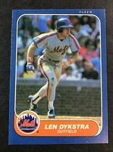 1986 FLEER #78 LEN DYKSTRA RC Mets - $1.24