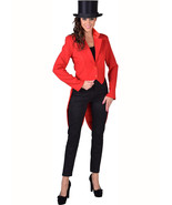 Tailcoat - Deluxe Red Ringmaster , Ladies - sizes 6 - 22 - $42.66
