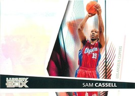 2005-06 Topps Luxury Box Basketball Card #19 Sam Cassell Clippers - $0.94