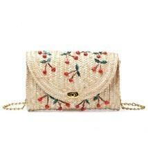 Women Lady Straw Clutch Bag Boho Summer Purse Handbag 2018 Stylish Cherr... - $13.00