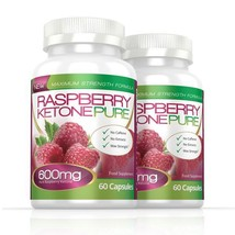 Raspberry Ketone Pure Max Strength 600mg 120 Capsules (2 Months) - $58.49