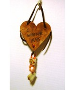"Cher Shaffer NC Folk Artist 1995 Handmade ""Love The The Earth"" Ornament - $27.98"