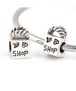 Charms 10 Pcs a Lot Silver Shopping Bag Love Big Hole Fits Pandora Brace... - $20.99
