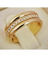 sapphire, 18k gold over 925 SS sz 8 - $26.75