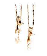 9CT SOLID YELLOW GOLD FASHION HANGING CAT PENDANT CHARM NECKLACE JEWELRY... - $117.32