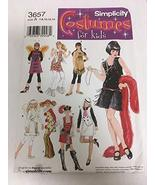 Simplicity 3657 Sewing Pattern, Girls' Costumes, Size A (7,8,10,12,14) - $11.76