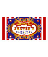 Carnival Birthday Banner Personalized Party Backdrop - $22.28+
